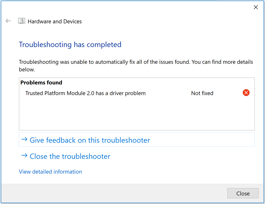 Bitlocker and Trusted Platform Module problems - Microsoft