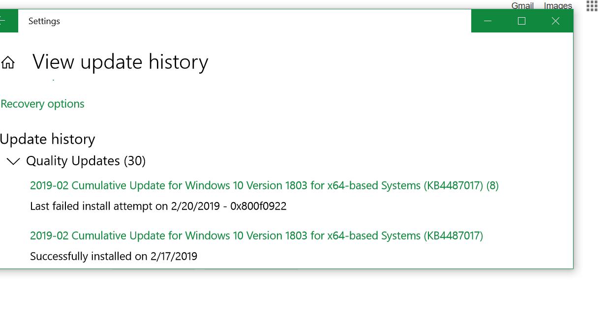 Windows 10 Feb 2019 update - Microsoft Community