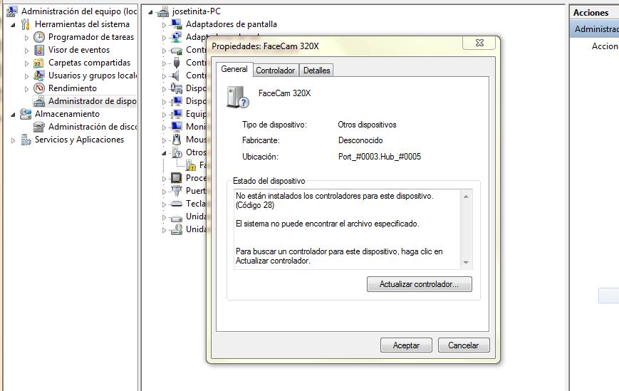 instalar camara web windows 7