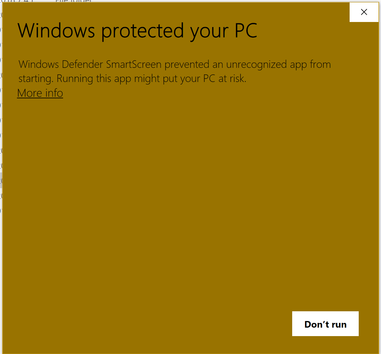 Windows Defender Is Giving A Warning When Installing A Validly