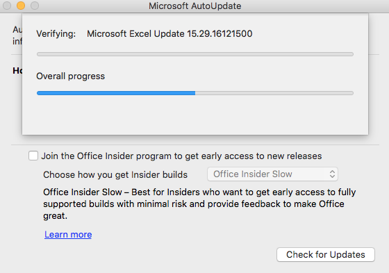 office 2016 for mac update