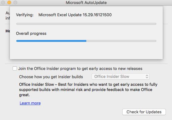 Microsoft Office 2016 not updating on Mac - Microsoft Community
