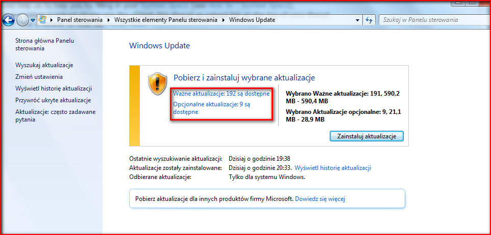 win7 searching for updates forever