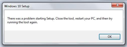 Windows 10 setup error - \