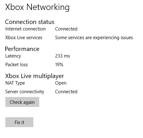 Sea of thieves very high latency (PING) - Microsoft Community