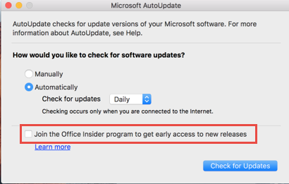 Welcome To The Office Insider For Mac Community Microsoft Community