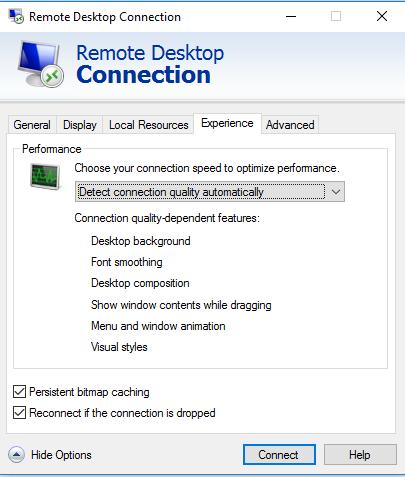 Slow remote desktop after windows 10 updates - Microsoft
