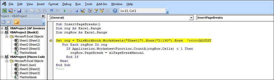Macro for inserting a page break - Microsoft Community