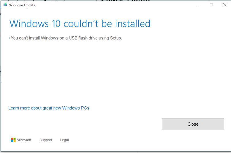 0x8024a105 update error