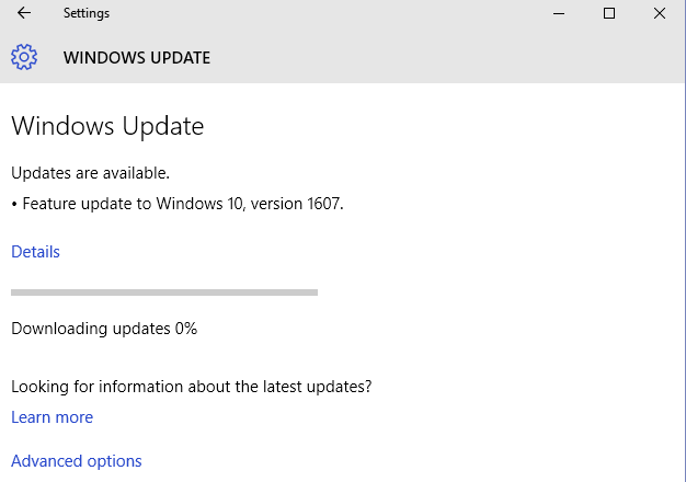 microsoft 10 update stuck