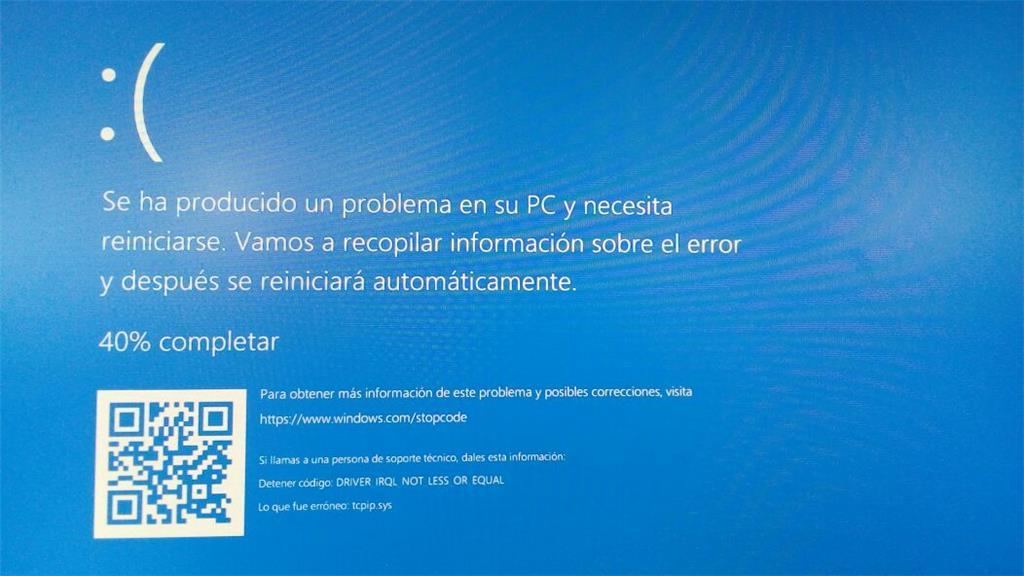 Windows 10 - Pantalla azul - TCPIP.SYS. - Microsoft Community