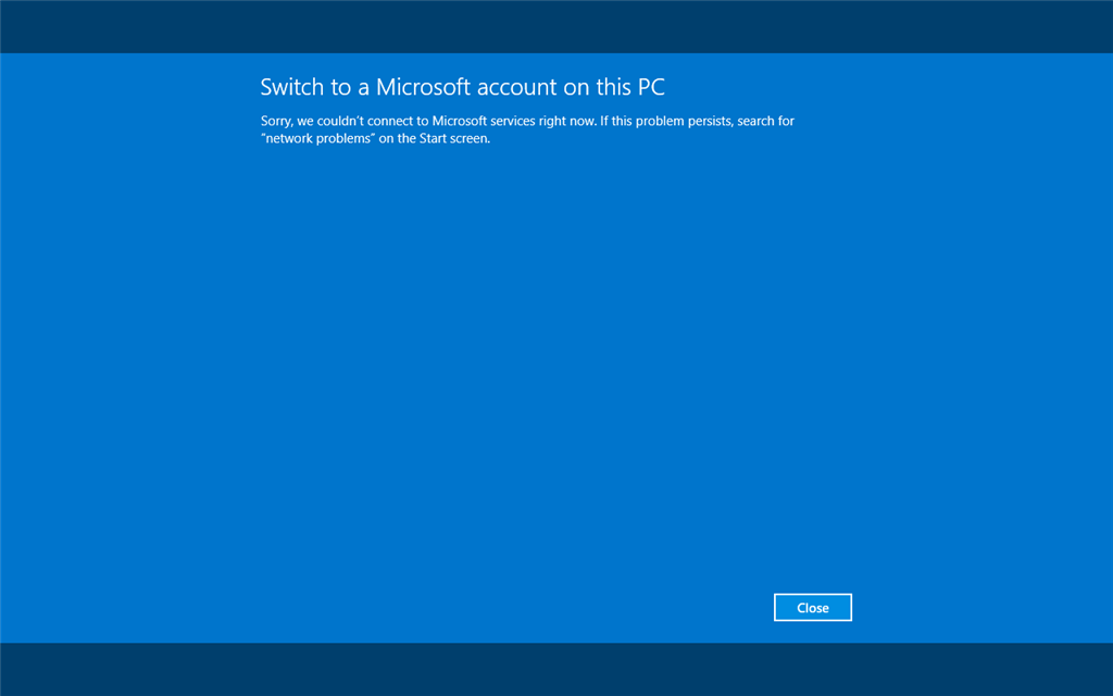 Account Login Problem On Windows 8 1