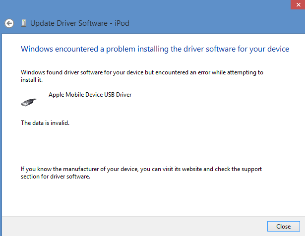 Mobile drivers apple device support