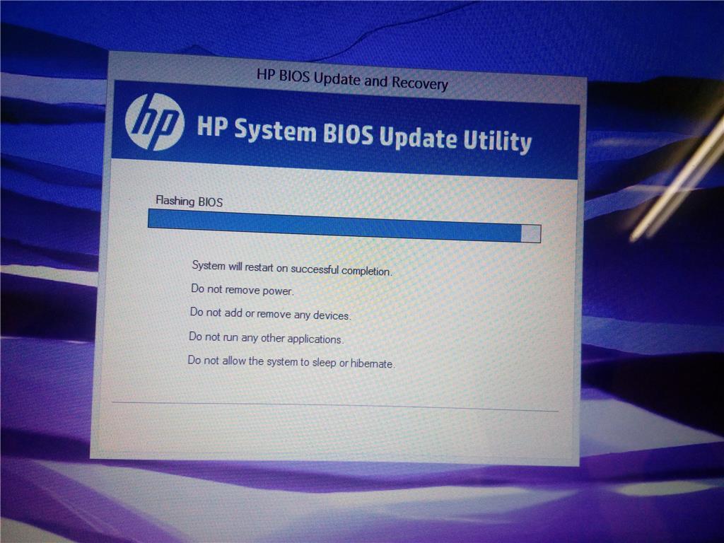 P system bios update utility stuck - Microsoft Community