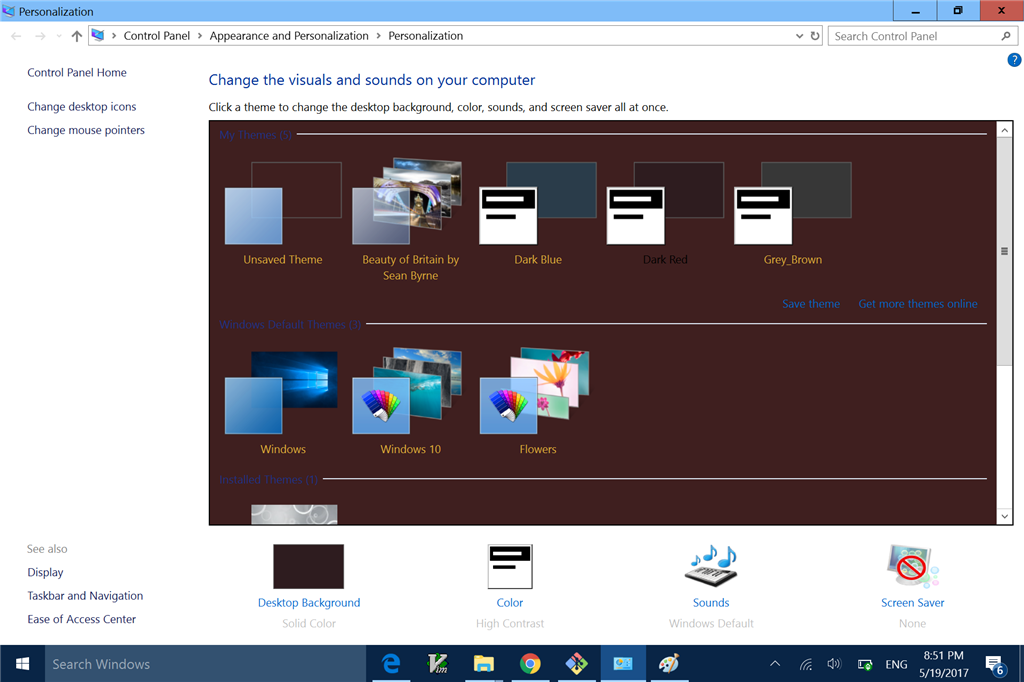 how to customize windows 10 theme like windows 7 microsoft community