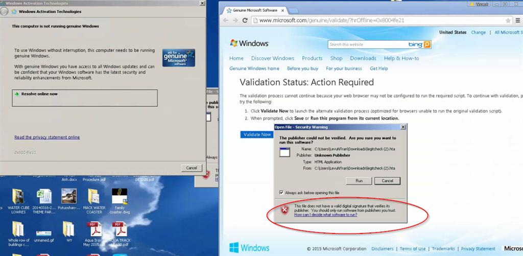Windows 7 Genuine Validation - Legitcheck.hta app is unsigned
