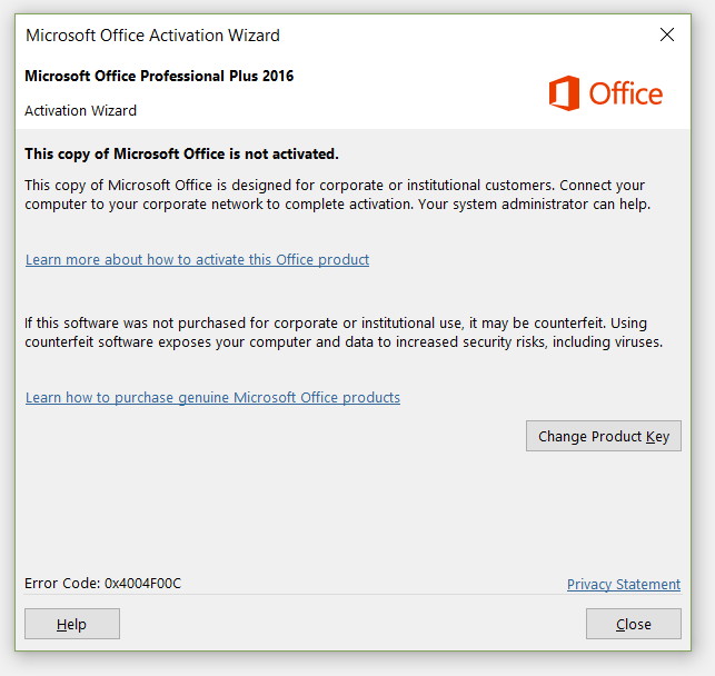 activate office 2016 retail without microsoft account