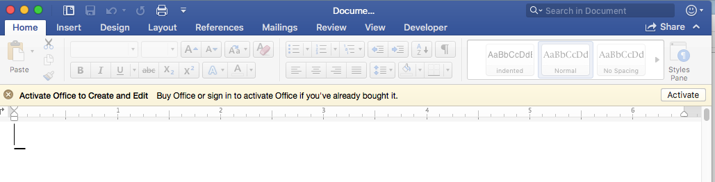microsoft word activation not working
