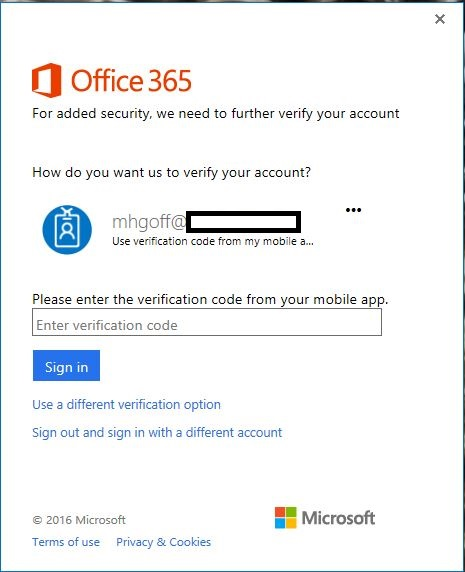 Potential Security hole: MFA enabled but outlook /safe - Microsoft