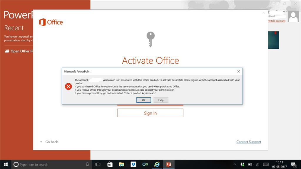 office 2016 product key not valid