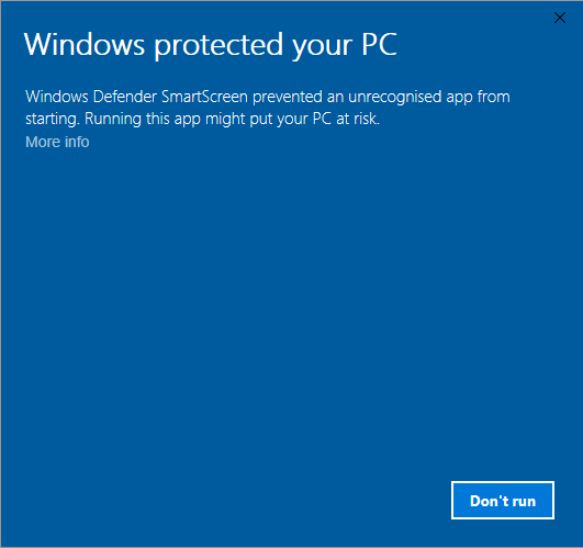 How to Disable Windows Defender Smart Screen for a particular