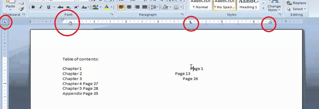 how to clear a tab stop in word 2013