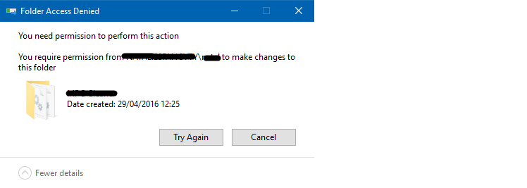 Windows 10 - Permission From Myself? - Permission To Delete A