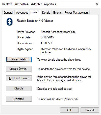 Bluetooth Disconnected in the Sound Playback Devices on windows 10