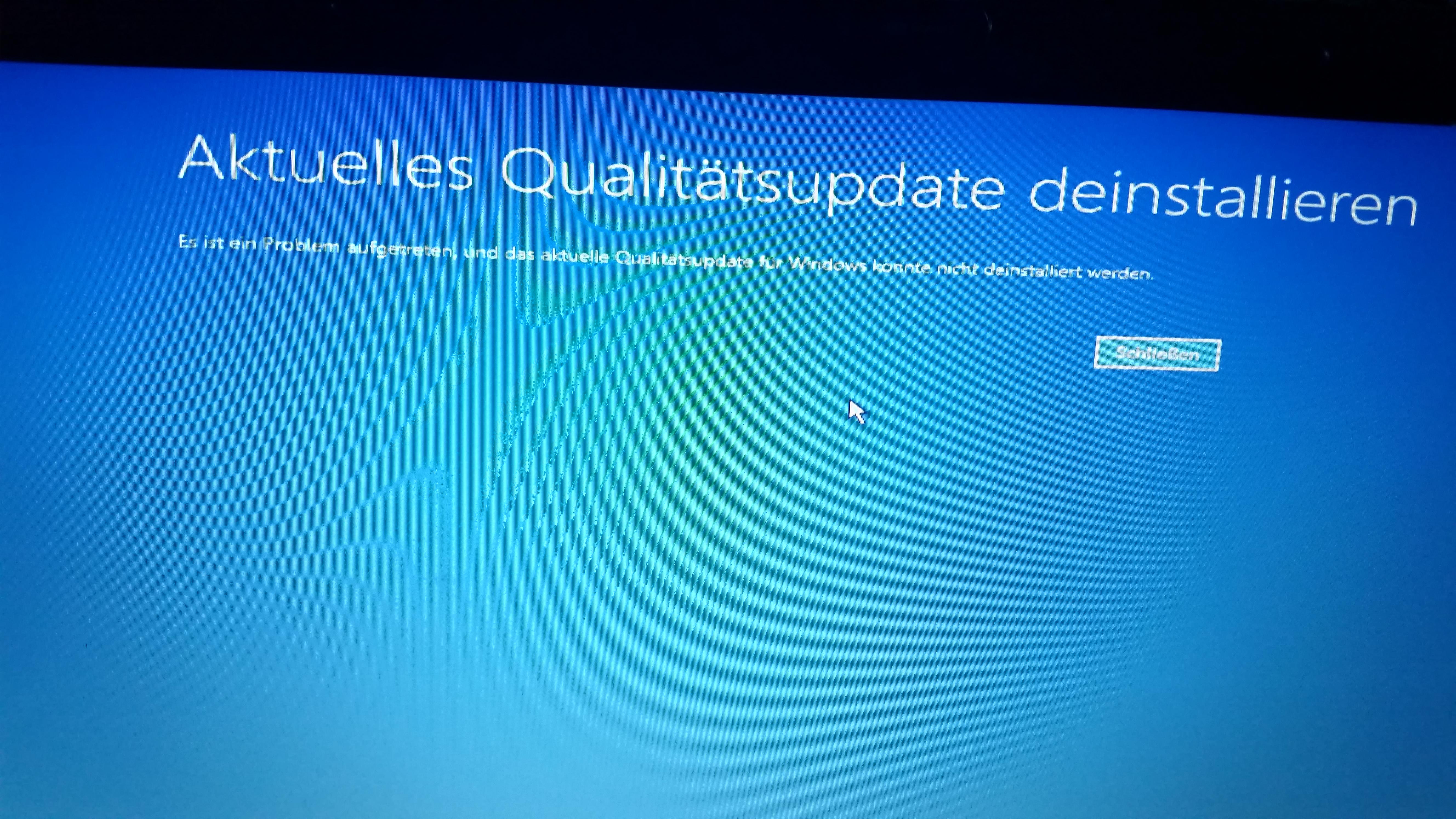 Windows 10 kann nach Update nicht gestartet werden.