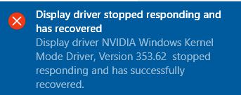 Display driver problems after upgrade from windows 7 to windows 10.