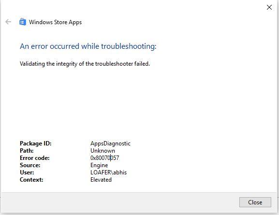 microsoft windows store troubleshooter