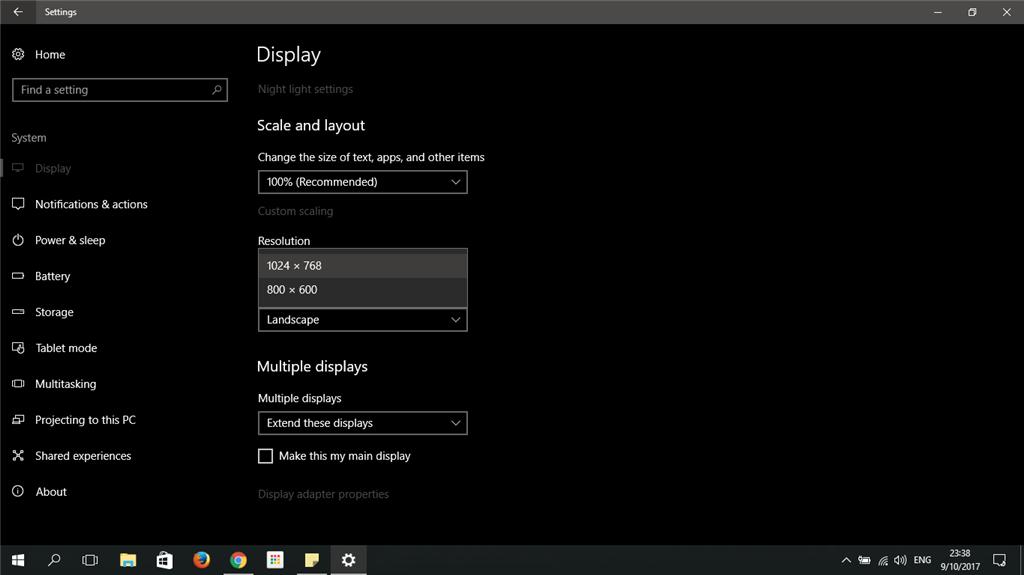 Secondary screen resolution problem  - Microsoft Community