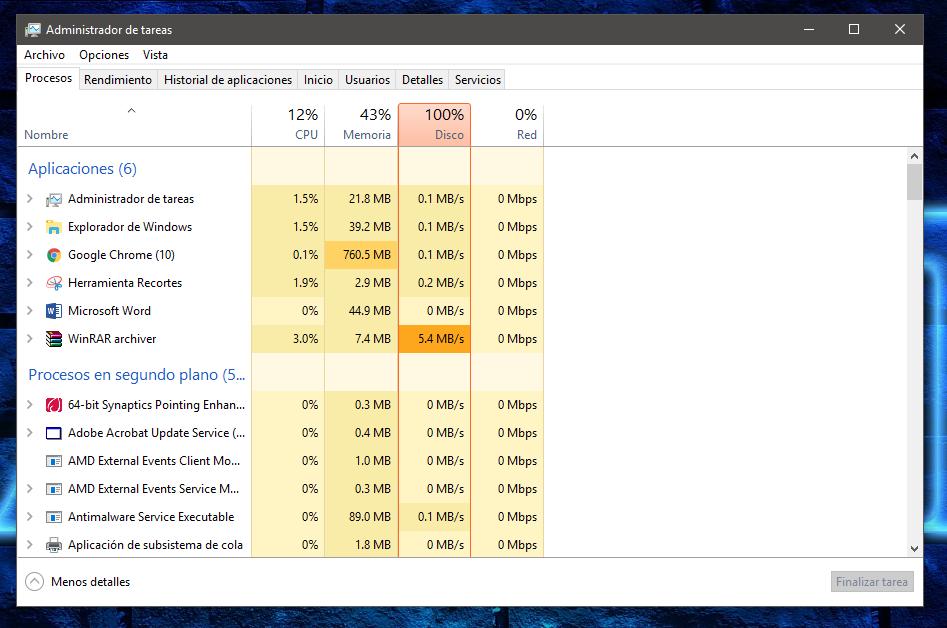 Windows 10 ≡ Lentitud al descomprimir con Winrar