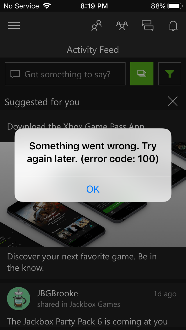 I still cannot join parties on Xbox App on mobile phones due