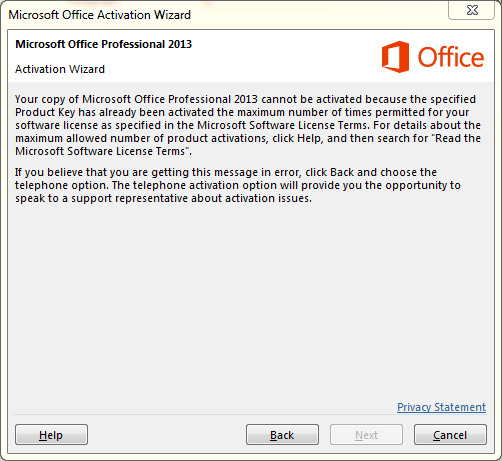 how to activate microsoft office product key 2013