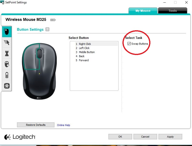 why does my mouse right click when i left click