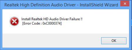 realtek hd audio driver failure error code microsoft community. Black Bedroom Furniture Sets. Home Design Ideas