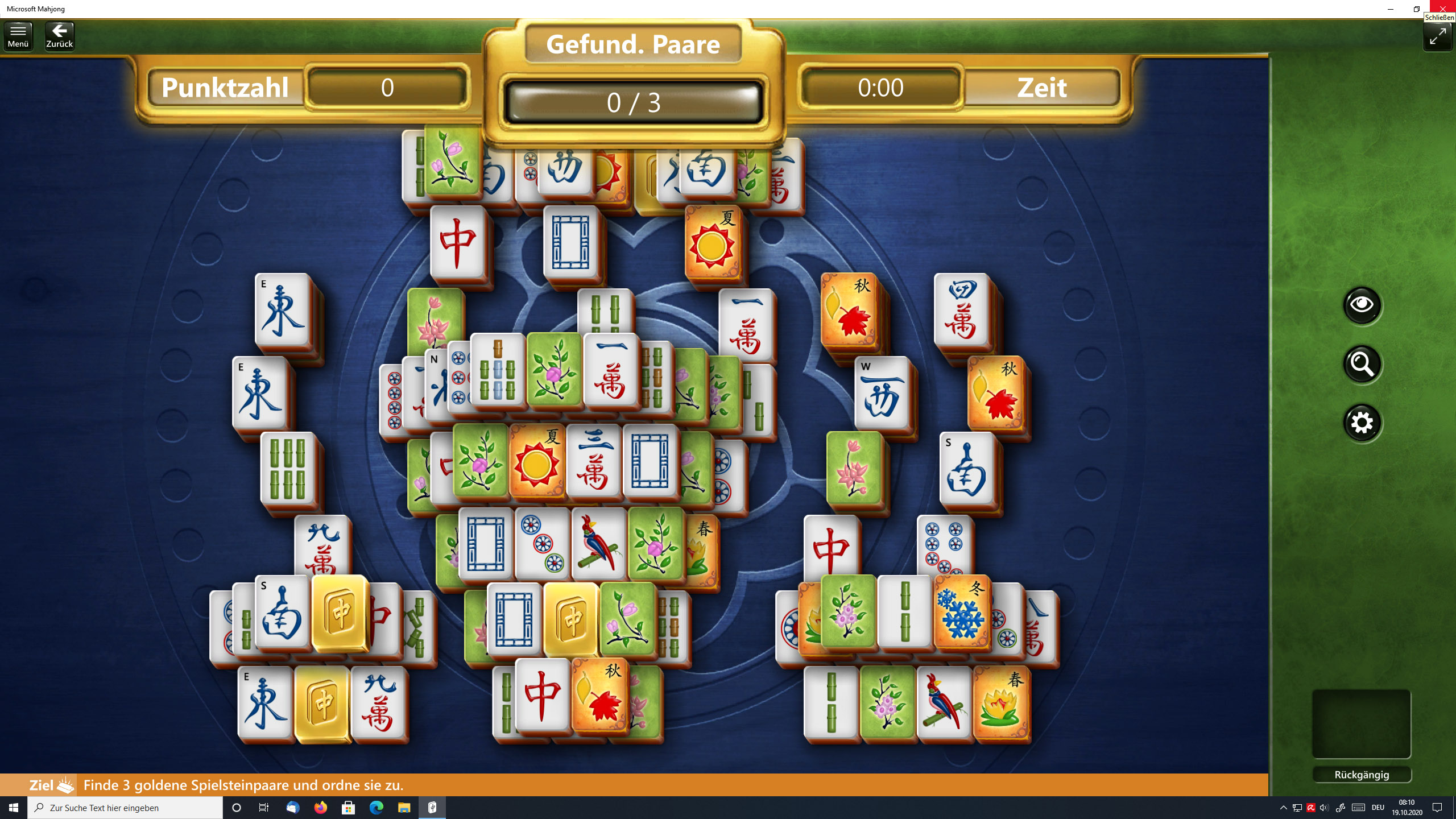 Microsoft Mahjong Tägliche Herausforderung