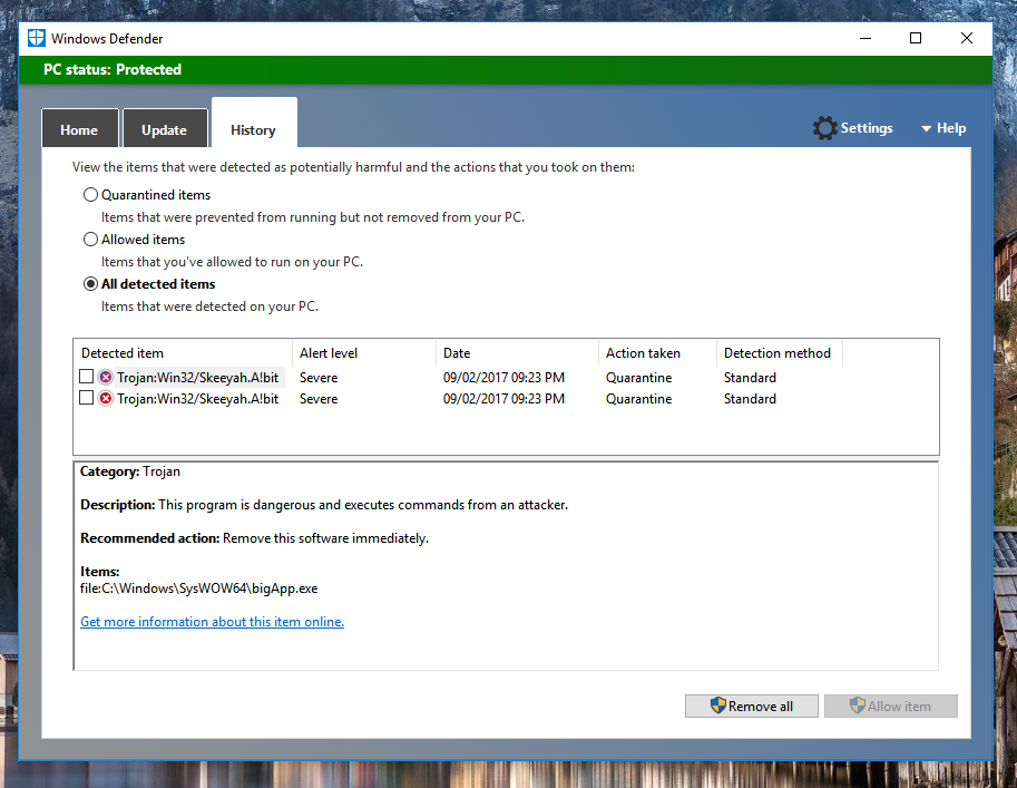 My Question Is How Do I Delete This Virus TrojanWin32 SkeeyahAbit Completely And Permanently From Device