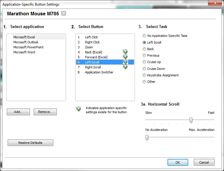 Horizontal scroll by mousewheel not working - Microsoft