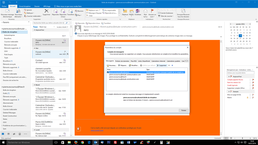 Synchronisation Calendrier Outlook.Synchroniser Mon Calendrier Outlook Sur Office 365 Sur 2 Pc