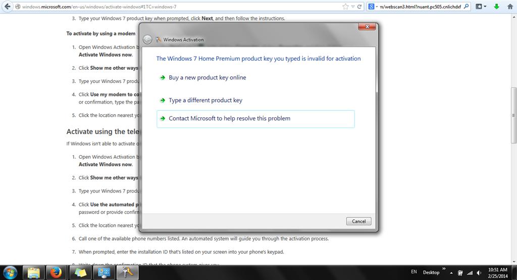 Windows is not genuine 0xC004F025 - Microsoft Community