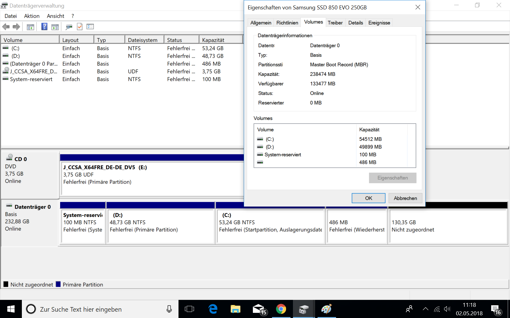 Dualboot Win 7/ Win 10: Problem durch vom System angelegte Partitionen