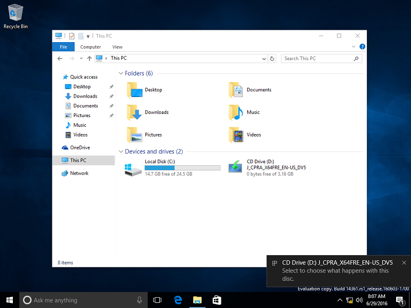 upgrade windows 8.1 to 10 from dvd