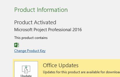 product key microsoft project professional 2016