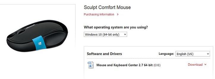 Microsoft Sculpt Mouse getting error