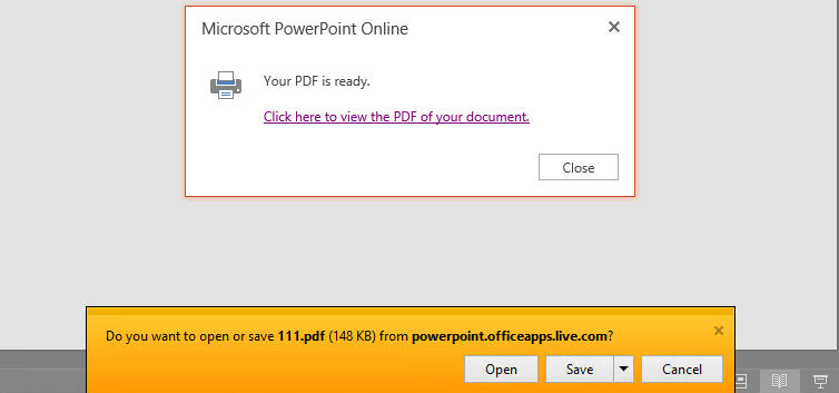 Powerpoint Online Print To Pdf And Hyperlinks Microsoft Community