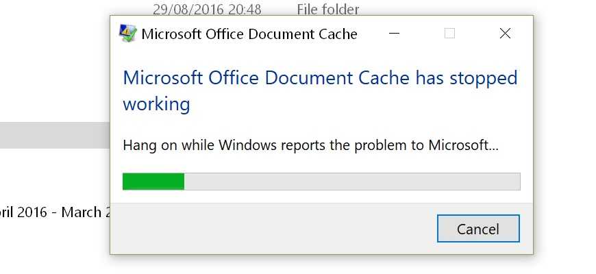 how to clear office cache