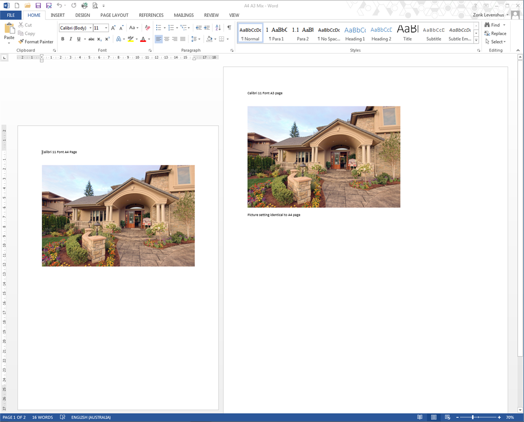 how to make a page larger on microsoft word