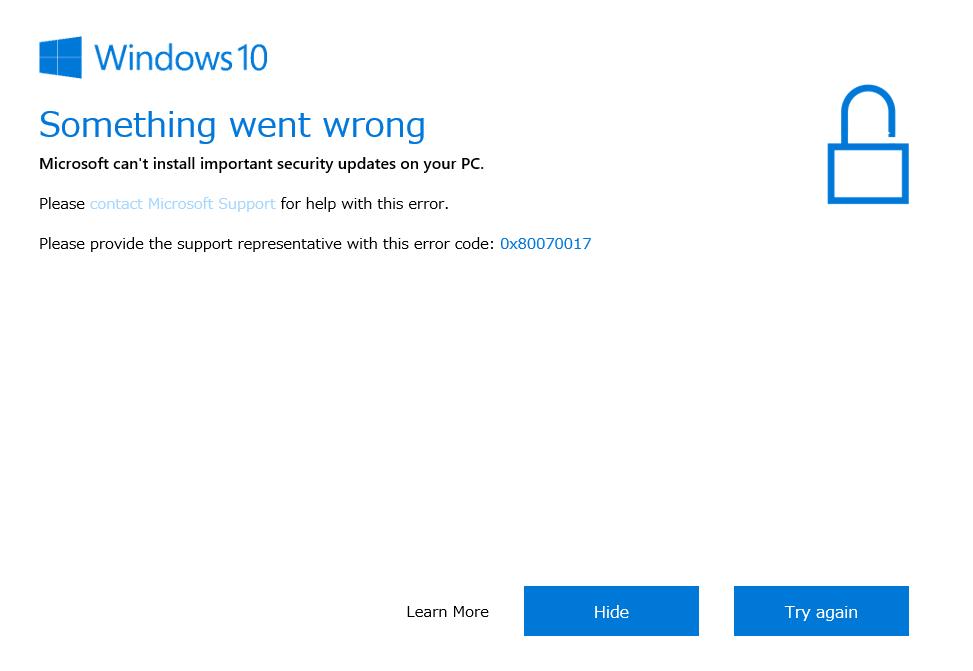 windows10 更新 アシスタント 失敗